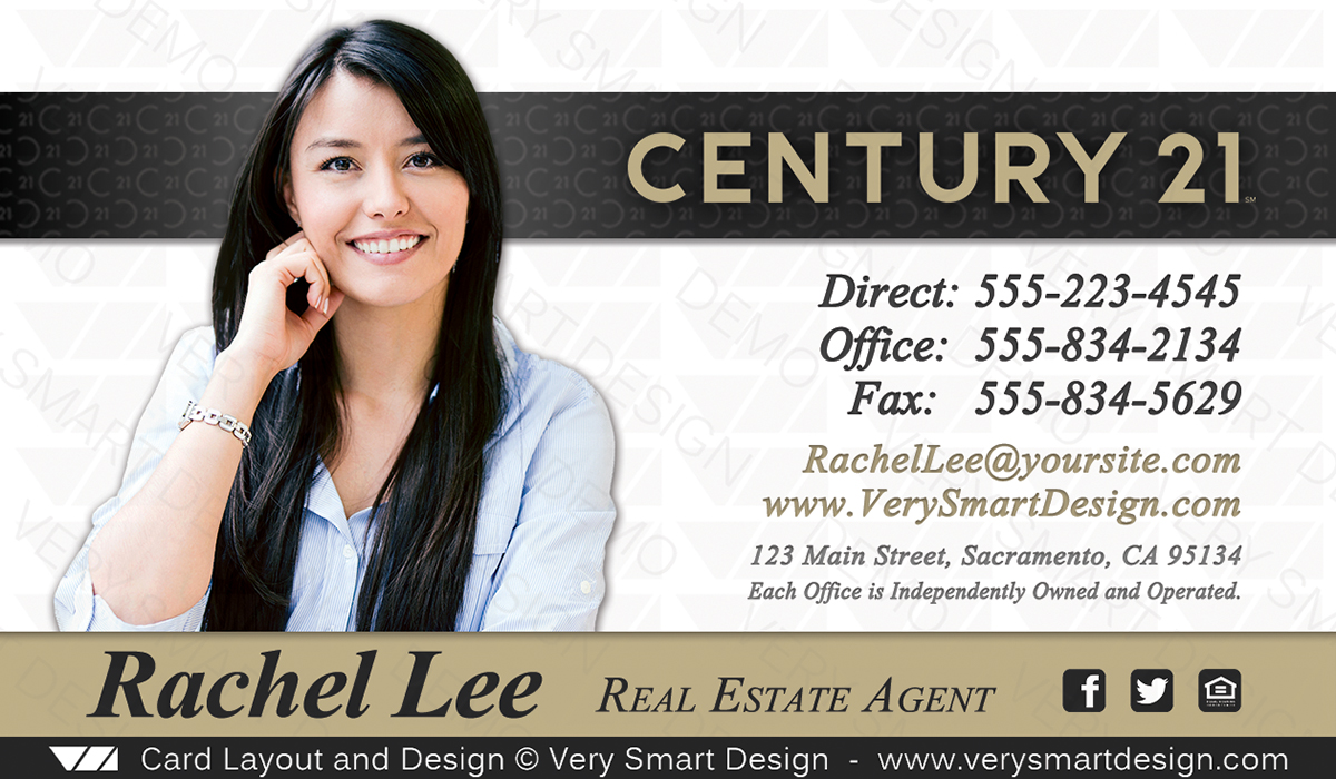 New century 21 business card for real estate agents design 8d new century 21 business card for real estate agents design 8d wajeb Choice Image
