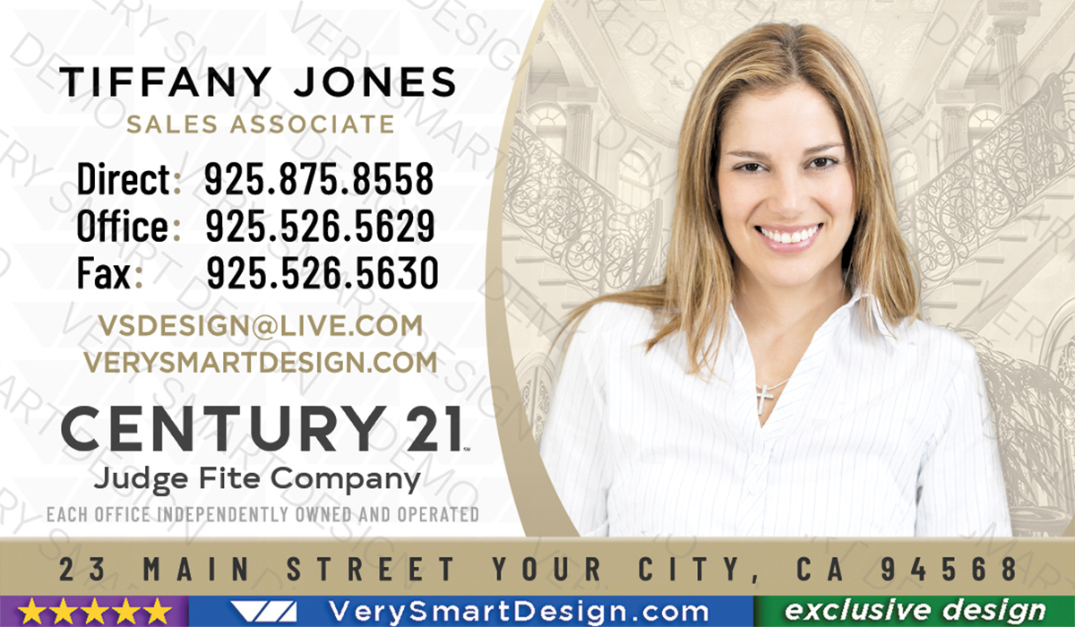Century 21 Real Estate Business Cards with New C21 Logo Agents 11A ...