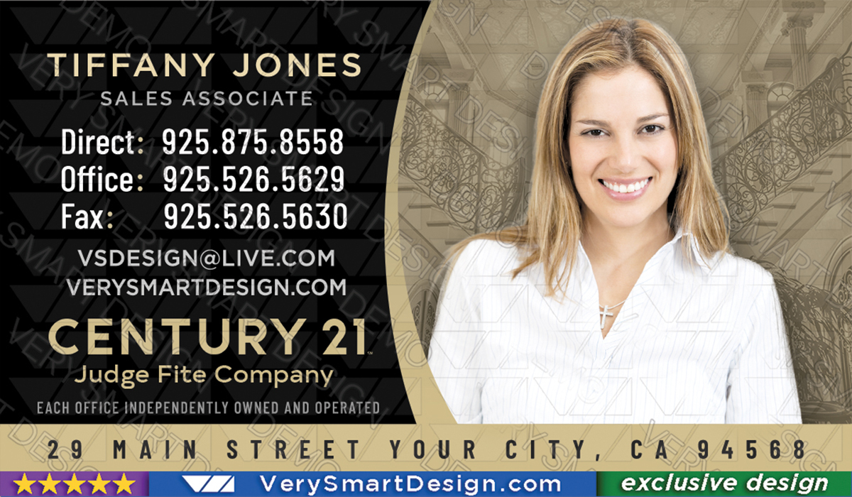 Century 21 realtor new logo business cards for c21 associates 11b black and gold century 21 realtor new logo business cards for c21 associates 11b accmission Choice Image