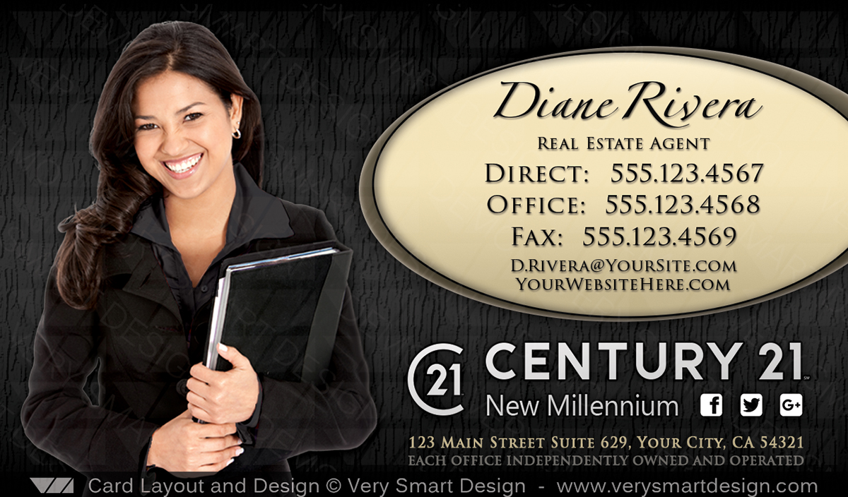 New C21 Logo Agent Real Estate Business Cards Century 21 Design 12A ...
