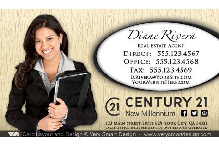 New logo business cards for century 21 real estate agents in usa 12c gold and white new logo business cards for century 21 real estate agents in usa 12c reheart Images