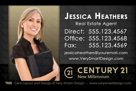 Custom Century 21 Business Card Templates With New C21 Logo 14a Dark
