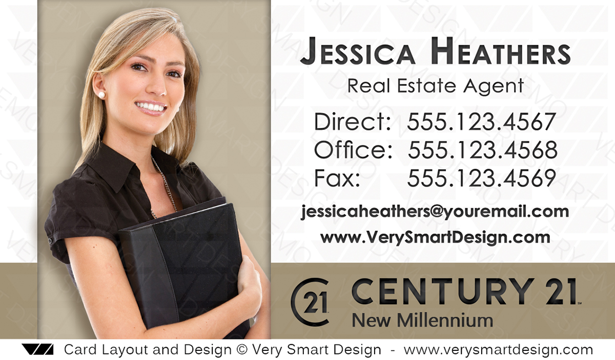 Century 21 Realty New Logo Business Cards Templates for C21 Realtors ...