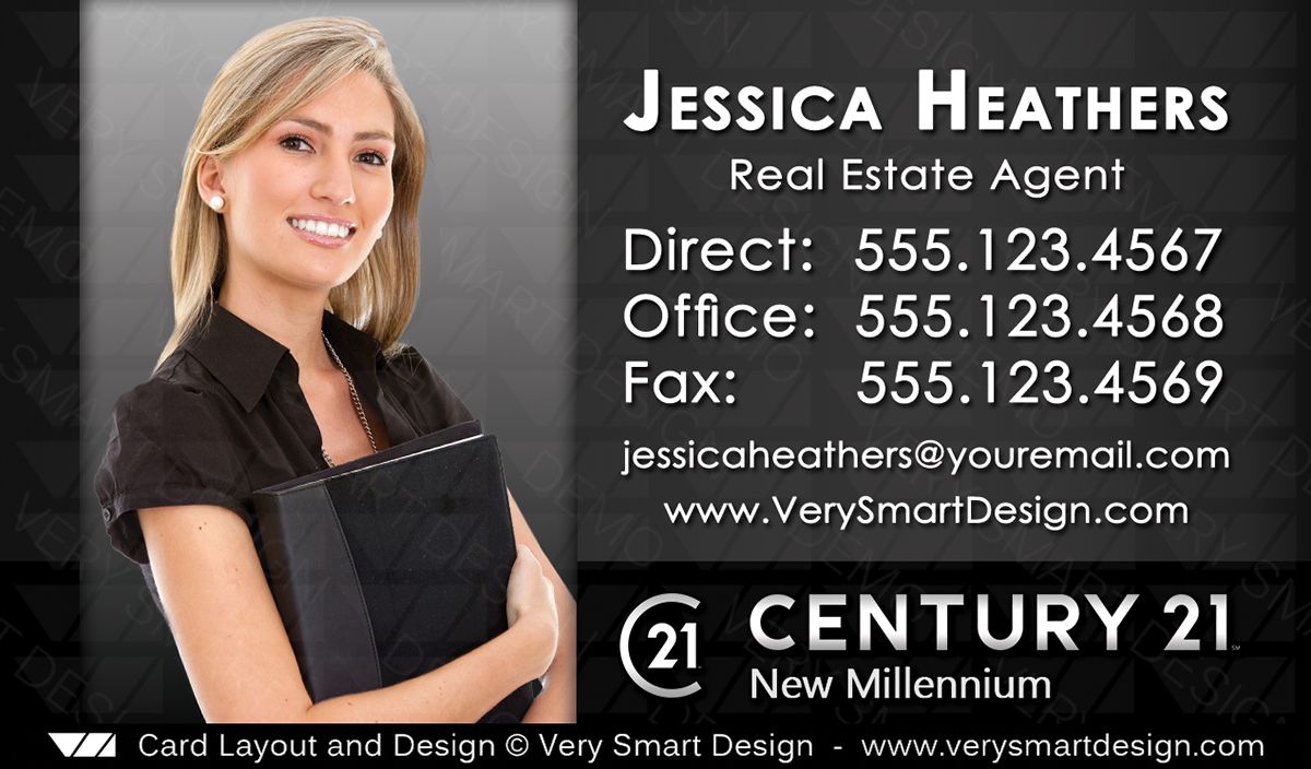 New Logo Business Cards for Century 21 Real Estate Agents in USA 14D ...