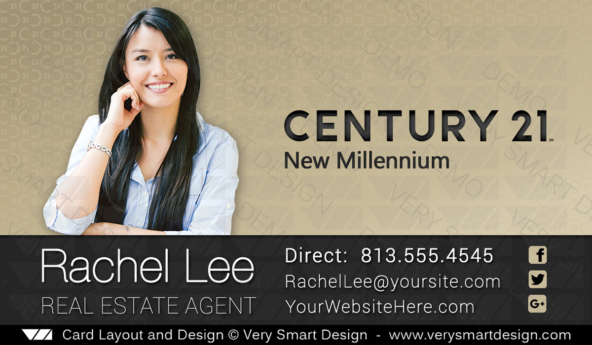 Century 21 Real Estate Business Card Design with New C21 Logo 15 ...
