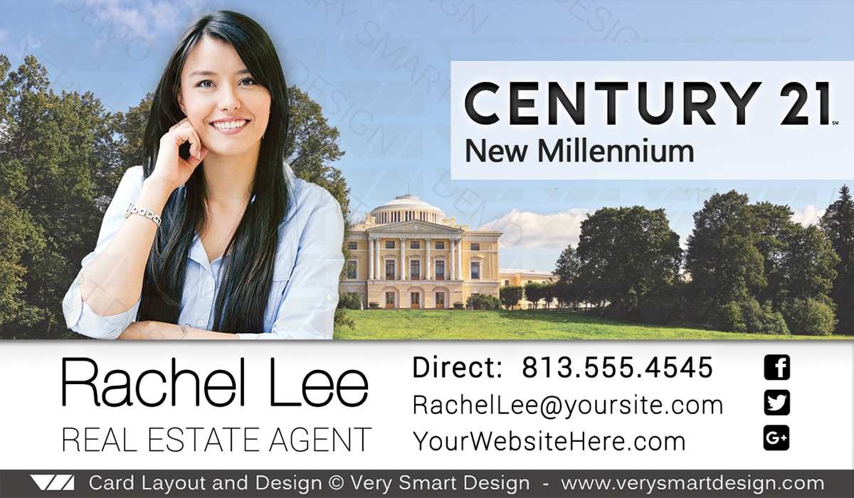 Century 21 Real Estate Business Cards with New C21 Logo Agents 15C ...
