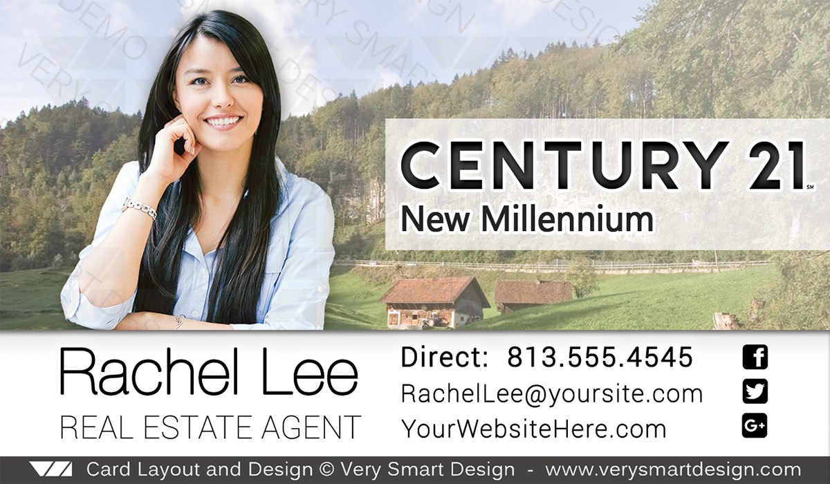 New Logo Business Cards for Century 21 Real Estate Agents in USA 15H ...