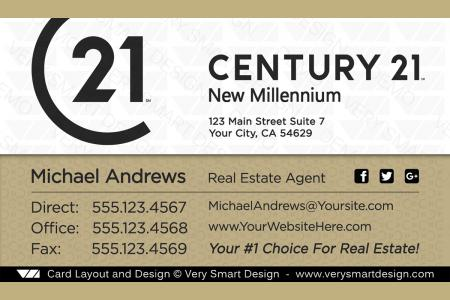 Custom century 21 new logo real estate business card designs for c21 white and gold custom century 21 new logo real estate business card designs for c21 16b cheaphphosting Images