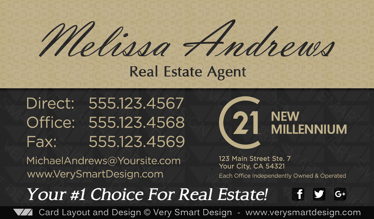 Century 21 New Real Estate Business Cards Design 17B | Image | Very ...