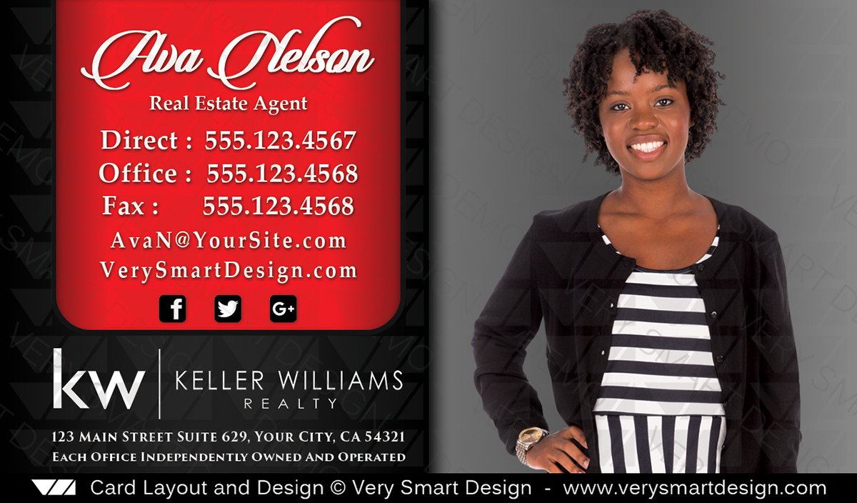 Custom keller williams business card template for kw agent 13c black red and black custom keller williams business card template for kw agent 13c cheaphphosting Image collections