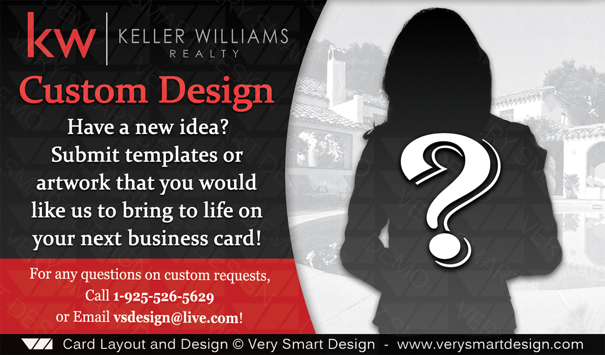 Custom keller williams business cards real estate design or any black and red custom keller williams business cards real estate design or any custom theme reheart Image collections
